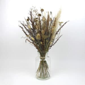 large dried flower bouquet