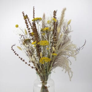 dried flower bouquet yellow