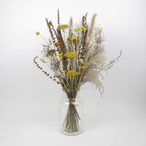 large dried flower bouquet vase
