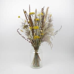 large dried flower bouquet vase