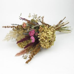 dried flower bouquet vintage pop