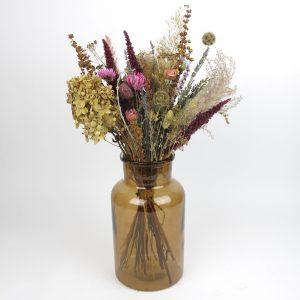 dried flower bouquet vintage pop vase