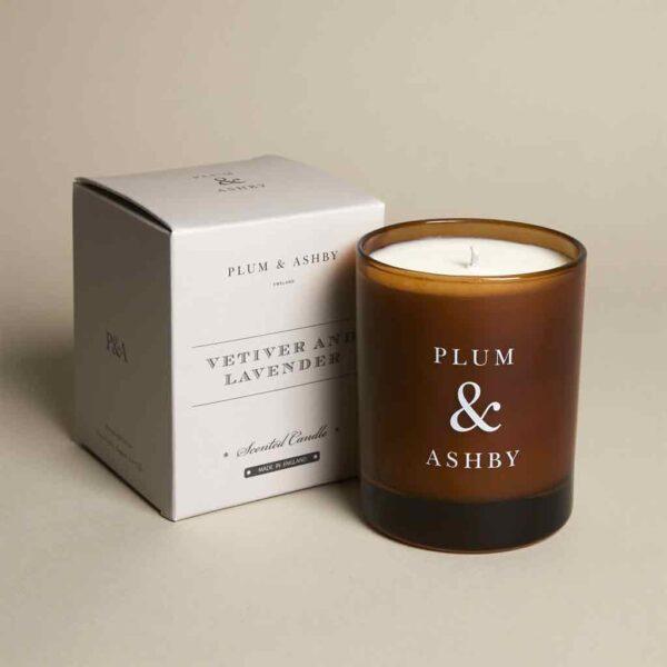 plum ashby vetiver lavender candle