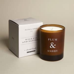 plum ashby wild fig saffron candle