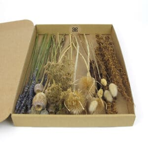 dried flower styling box natural