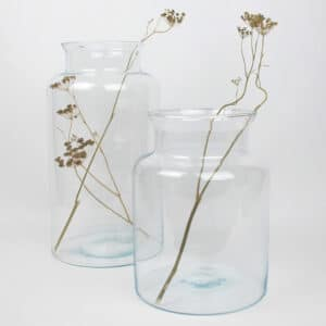 wide clear glass bell jars zoom