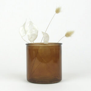 alea vase small amber honesty