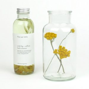 bath essence jar dried flowers