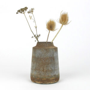 bennu mini straight vase dried thistle