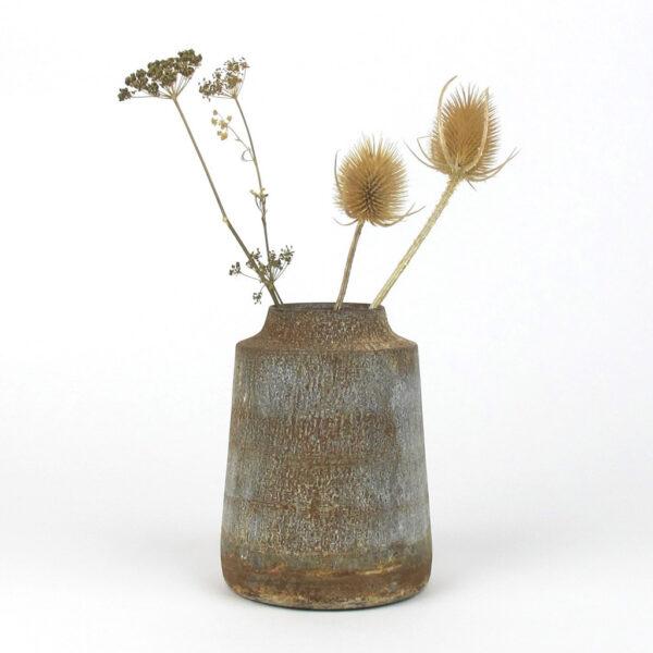 bennu mini straight vase dried thistle
