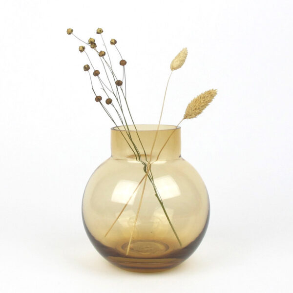 bubblan vase amber dried linum