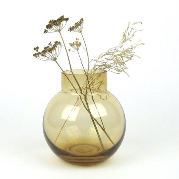 bubblan vase amber dried umbels