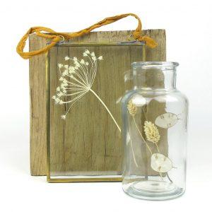 nkuku frame dried flower jar