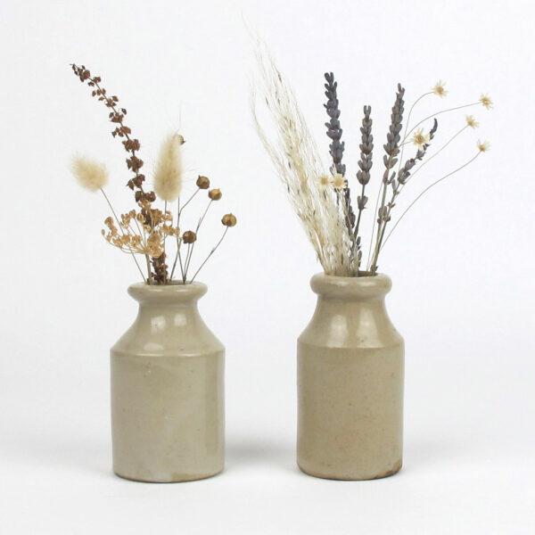 original earthenware pot dried flowers