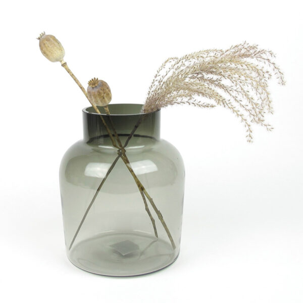 smoked vase dried miscanthus grass