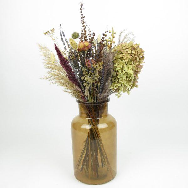 dried flower bouquet vintage large vase
