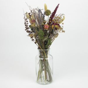 dried flower bouquet vintage small vase