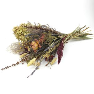 dried flower bouquet vintage large lay