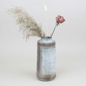 bennu vase miscanthus canary grass rose