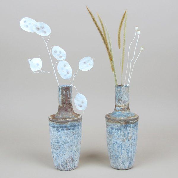 small bennu bottle vase dried flowers